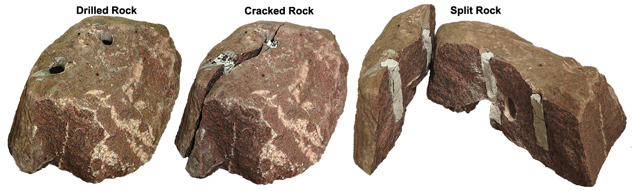 CRACK ROCK DEMOLITION DEMO : This Rock cracked overnight within 12 hrs