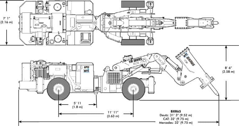BTi Mobile Rockbreaker TM15 Diagram
