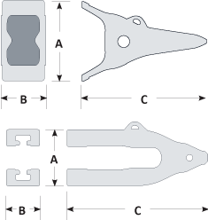 Black Cat Blades Whislor Lip Diagram