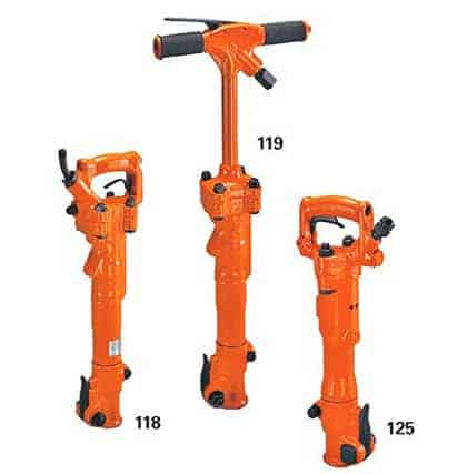 different sized clay trench diggers