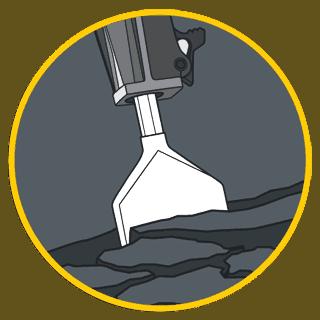 asphalt cutting illustration