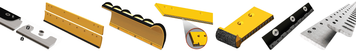 An array of plows for Road Maintenance