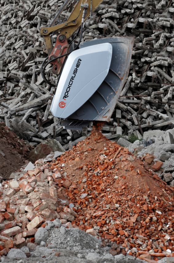 Hartl Crusher at a construction site