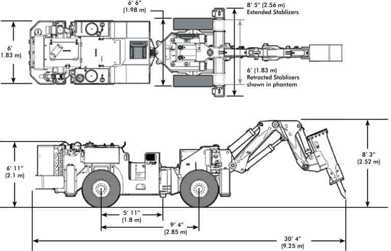 BTi Mobile Rockbreaker TM12 Diagram