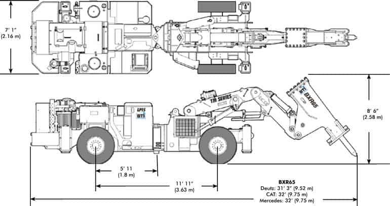 BTi Mobile Rockbreaker TM15 Diagram